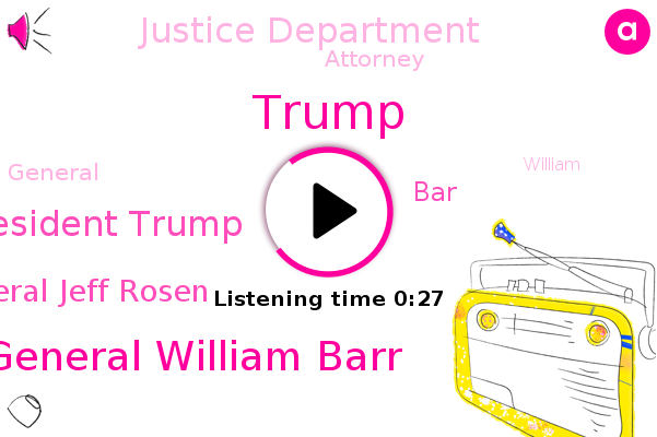 Listen: No Evidence of Fraud? No Job. Trump Gives Barr the Boot