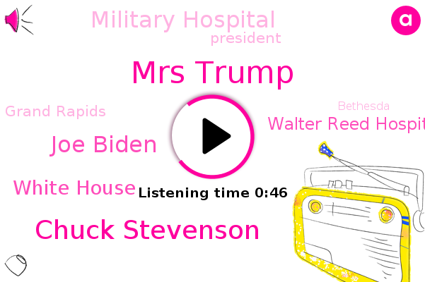 President Trump,Mrs Trump,White House,Walter Reed Hospital,Military Hospital,Chuck Stevenson,Joe Biden,Cough,Grand Rapids,Bethesda,Maryland,Aspirin,Michigan