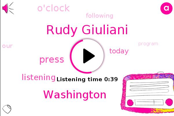 Listen: Giuliani presents 'evidence' for massive voting fraud