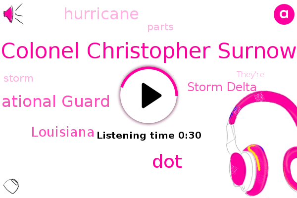 Louisiana,Storm Delta,Louisiana National Guard,Colonel Christopher Surnow,DOT,Hurricane