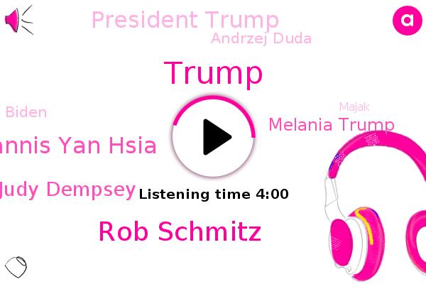 Poland,Donald Trump,Rob Schmitz,Yannis Yan Hsia,Judy Dempsey,Melania Trump,President Trump,Andrzej Duda,Eastern Europe,Hungary,Carnegie Europe,Biden,U.,Lawn Justice Party,Majak,White House,Trump Administration,Electoral College,NPR,Slovenia