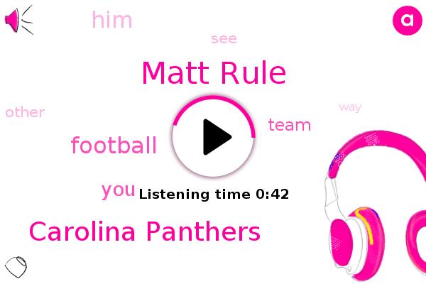 Matt Rule,Carolina Panthers,Football