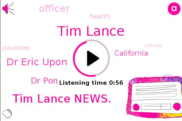 Tim Lance,Tim Lance News.,Dr Eric Upon,Dr Pon,Officer,California