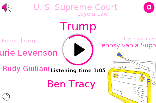 Pennsylvania Supreme Court,Donald Trump,Ben Tracy,Cbs News,U. S. Supreme Court,Loyola Law,Laurie Levenson,Federal Court,Pennsylvania High Court,White House,Golf,Pennsylvania,Rudy Giuliani