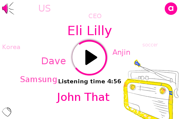 Soccer,Eli Lilly,John That,United States,CEO,Hockey,Samsung,Dave,Korea,Anjin