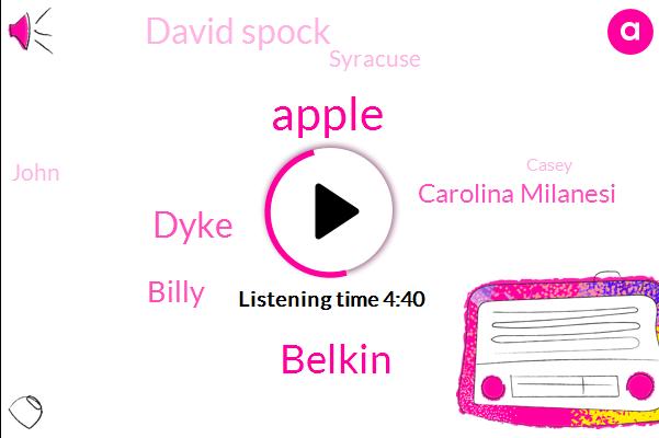 Apple,Belkin,Dyke,Billy,Carolina Milanesi,David Spock,Syracuse,John,Casey,Google,Amazon,Four Years