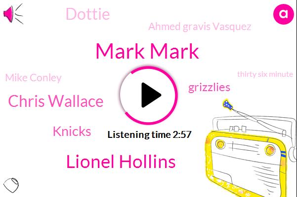 Mark Mark,Lionel Hollins,Chris Wallace,Knicks,Grizzlies,Dottie,Ahmed Gravis Vasquez,Mike Conley,Thirty Six Minute