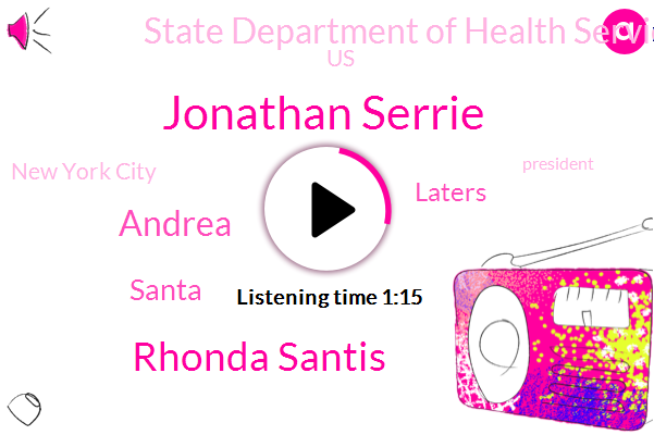 Jonathan Serrie,New York City,President Trump,Rhonda Santis,State Department Of Health Services,United States,Andrea,Arizona,Miami,Santa,Poland,Laters,Florida