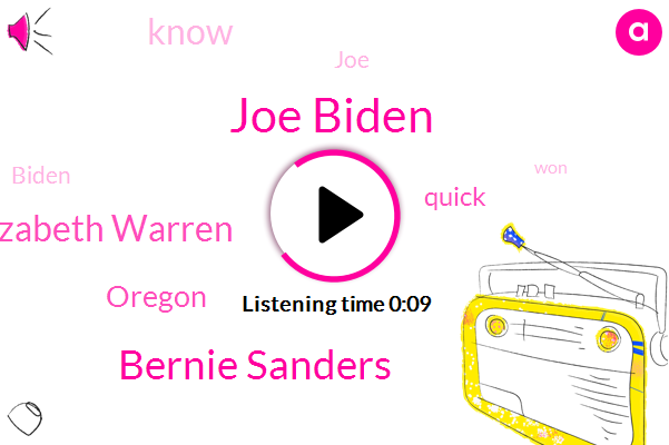 Joe Biden,Oregon,Bernie Sanders,Elizabeth Warren