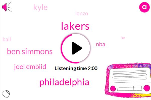 Lakers,Philadelphia,Ben Simmons,Joel Embiid,NBA,Kyle