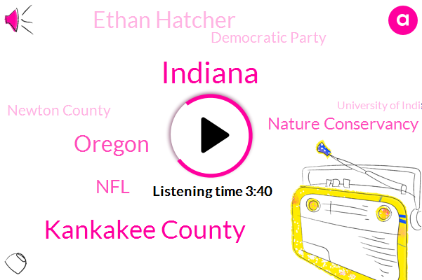Indiana,Kankakee County,Oregon,NFL,Nature Conservancy,Ethan Hatcher,Democratic Party,Newton County,University Of Indianapolis,Drug Policy Alliance,Republican Party,Professor Of Political Science,Louis Brandeis,Kentucky National Park,United States,Dr David,Bette Rivers,Cassandra Frederic,America,Director
