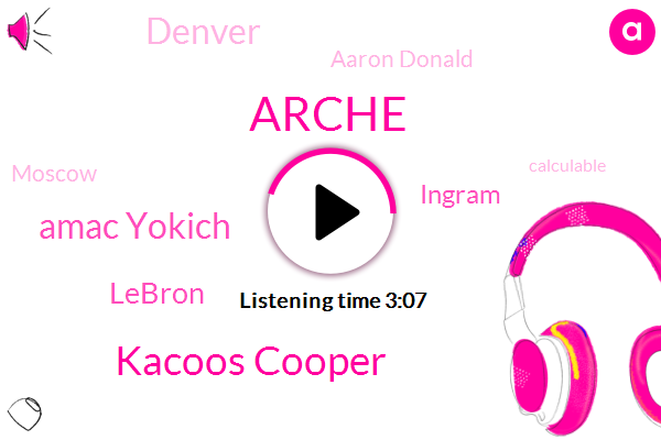 Arche,Kacoos Cooper,Amac Yokich,Lebron,Ingram,Denver,Aaron Donald,Moscow,Calculable,Kouzmin,Costa,Coors,Chris,Willie,One Year,Three Eighty Five Percent,Fifty Percent,Forty Percent