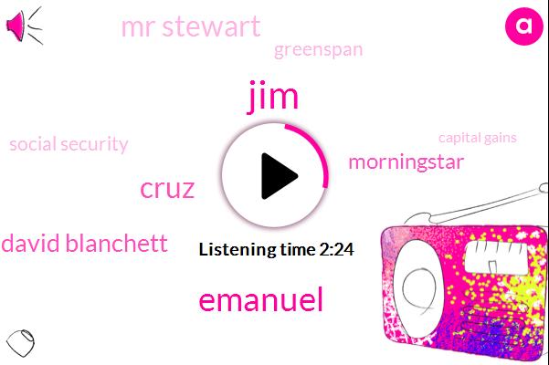 JIM,Emanuel,Cruz,David Blanchett,Morningstar,Mr Stewart,Greenspan,Social Security,Capital Gains,Russell