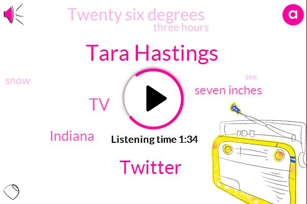 Tara Hastings,Twitter,Indiana,TV,Seven Inches,Twenty Six Degrees,Three Hours