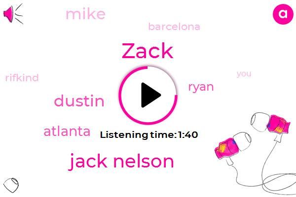 Zack,Jack Nelson,Dustin,Atlanta,Ryan,Mike,Barcelona,Rifkind,Mike Warburg,Mike Jason Lee,Thirty Pounds,Three Weeks