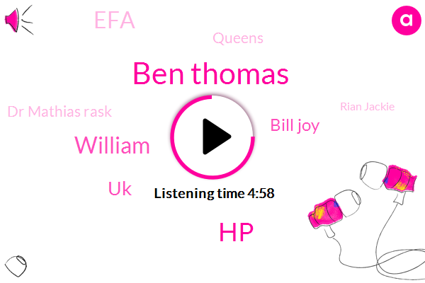 Ben Thomas,HP,William,UK,Bill Joy,EFA,Queens,Dr Mathias Rask,Rian Jackie,RDA,Stenosis,New York,Bernie,TOM