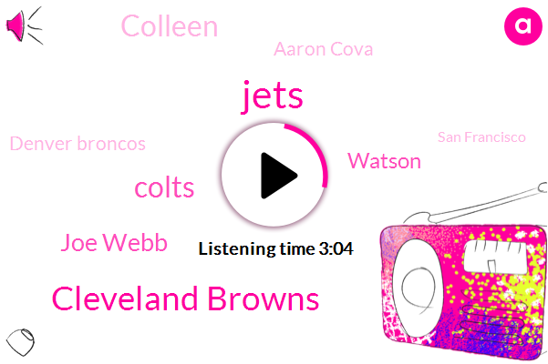 Jets,Cleveland Browns,Colts,NFL,Joe Webb,Watson,Colleen,Aaron Cova,Denver Broncos,San Francisco,Chris Wesseling,AFC,Mark,HAL,Tito,One Thirty Percent,Eight Years,Four Years,Two Months