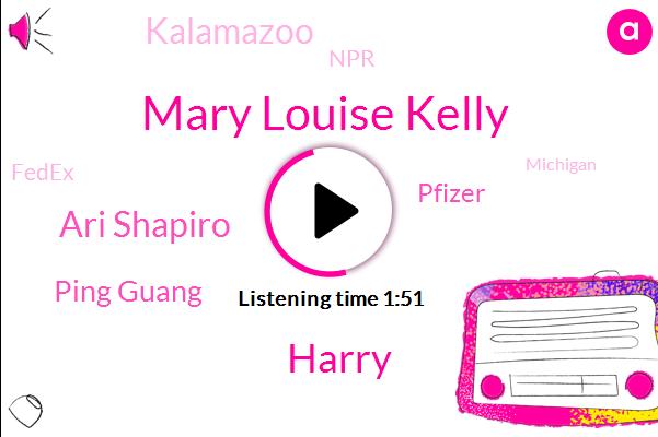Mary Louise Kelly,Harry,Ari Shapiro,Ping Guang,Pfizer,Kalamazoo,NPR,Fedex,Michigan