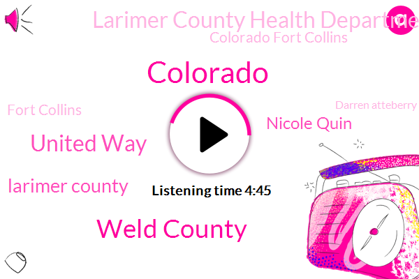 Colorado,Weld County,United Way,Larimer County,Nicole Quin,Larimer County Health Department,Colorado Fort Collins,Fort Collins,Darren Atteberry,Tanner Swint,City Council,Mikey Kilpatrick,Kobe,Protective Equipment,Cova,Coordinator,Lopin,Director