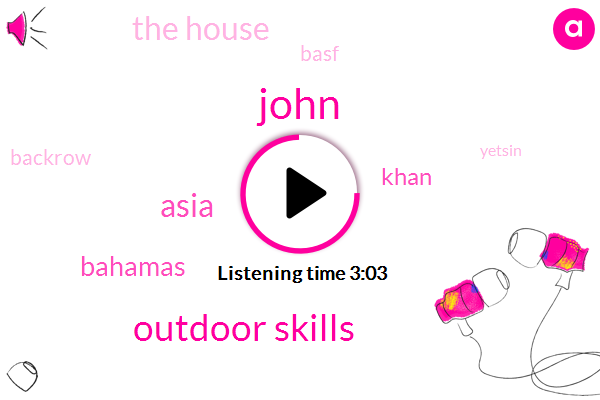 John,Outdoor Skills,Asia,Bahamas,Khan,The House,Basf,Backrow,Yetsin,Louisiana,Seven Years