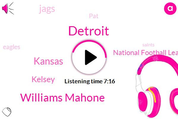 Detroit,Williams Mahone,Kansas,Kelsey,National Football League,Jags,PAT,Eagles,Saints,North America,Robinson,MVP,Brady.,Annery,Marys,Stafford,Stanford,P. A.,MC,L.