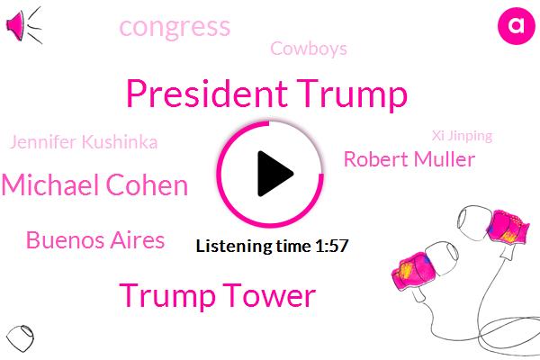 President Trump,Trump Tower,Michael Cohen,Buenos Aires,Robert Muller,Congress,Cowboys,Jennifer Kushinka,Xi Jinping,America,Agoura,Special Counsel,Khial Elliott,SAN,Attorney,California,United States
