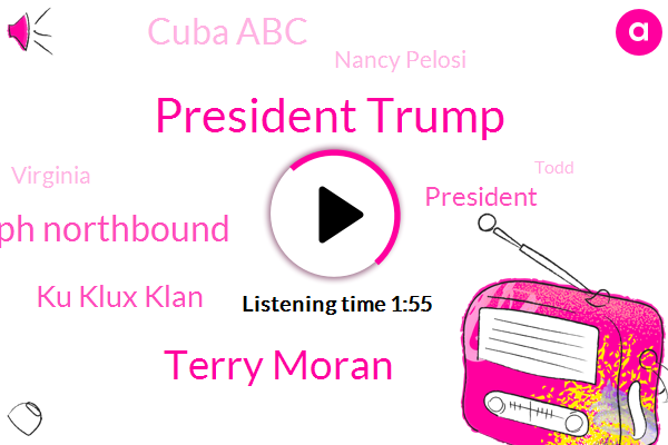 President Trump,Terry Moran,ABC,Governor Ralph Northbound,Ku Klux Klan,Cuba Abc,Nancy Pelosi,Virginia,Todd,Florida Keys,Andy Field,Washington,Victor Oquendo