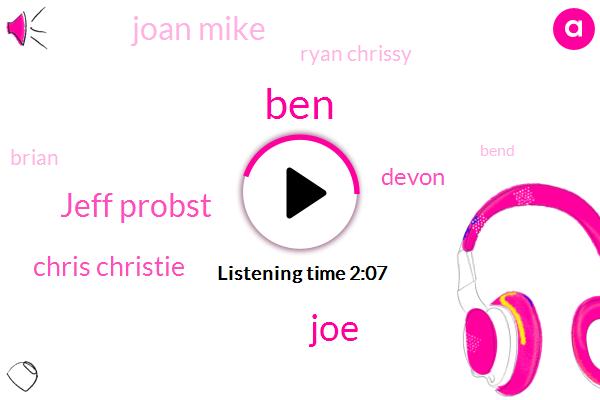 Jeff Probst,BEN,JOE,Chris Christie,Devon,Joan Mike,Ryan Chrissy,Brian,Bend,Josh,Lauren,Three Days