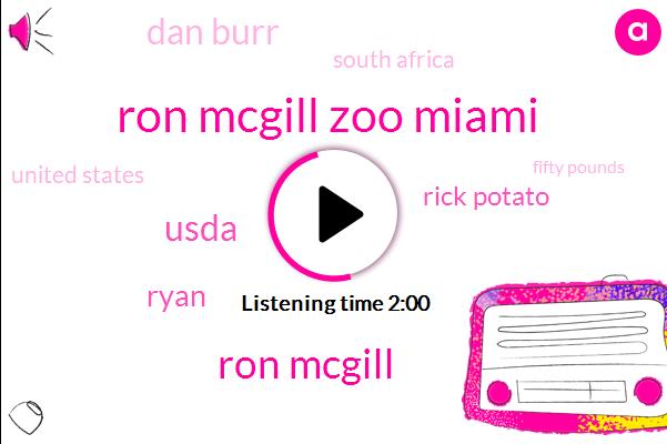 Ron Mcgill Zoo Miami,Ron Mcgill,Usda,Ryan,Rick Potato,Dan Burr,South Africa,United States,Fifty Pounds,Twenty Five Pounds