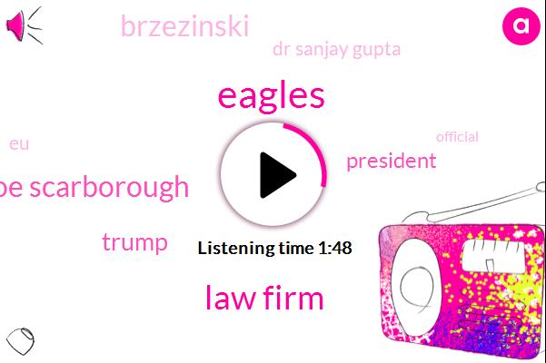 Eagles,Law Firm,Joe Joe Scarborough,Donald Trump,President Trump,Brzezinski,Dr Sanjay Gupta,EU,Official,National Enquirer