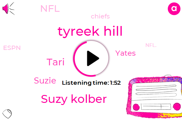 NFL,Chiefs,Tyreek Hill,Suzy Kolber,Tari,Espn,Suzie,Yates,Kansas,Nfl.,Football,Three Year,Six Weeks