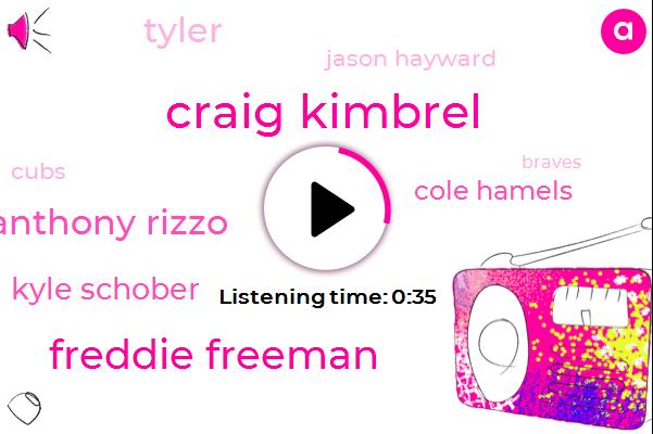 Craig Kimbrel,Braves,Wrigley,Freddie Freeman,Anthony Rizzo,Cubs,Kyle Schober,Cincinnati,Cole Hamels,Brewers,Mariners,Tyler,Jason Hayward