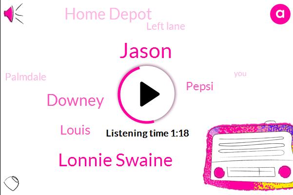 Pepsi,Jason,Lonnie Swaine,Home Depot,Palmdale,Left Lane,Downey,Louis