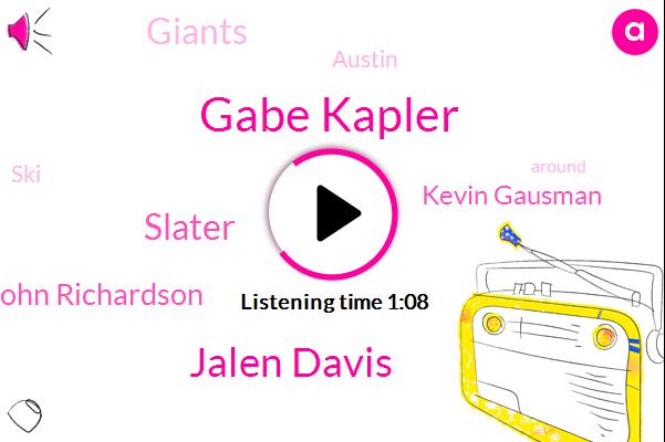 Giants,Gabe Kapler,Jalen Davis,Slater,John Richardson,Kevin Gausman,Austin,SKI
