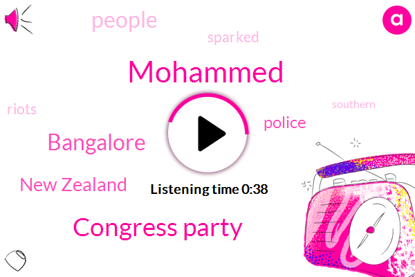 Mohammed,Congress Party,Bangalore,New Zealand