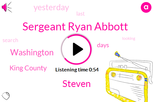 Sergeant Ryan Abbott,Washington,King County,Steven
