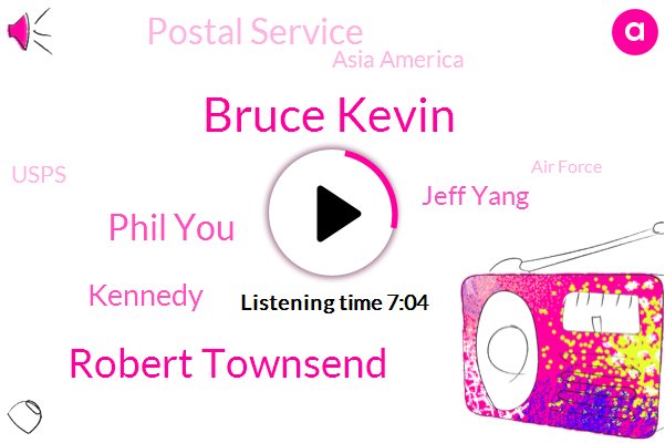 Postal Service,Bruce Kevin,Robert Townsend,Phil You,California,United States,Kennedy,Minneapolis,Asia America,Jeff Yang,Usps,Hawaii,A. End,Oakland,Hollywood,Los Angeles,Montebello,Air Force,Daly City