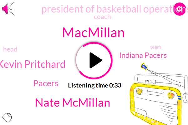 Macmillan,Indiana Pacers,Nate Mcmillan,Pacers,Kevin Pritchard,President Of Basketball Operations