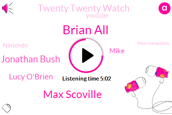 Brian All,New Hampshire,Twenty Twenty Watch,Max Scoville,Jonathan Bush,Lucy O'brien,Youtube,United States,Hampshire,Nintendo,Mike,Iraq