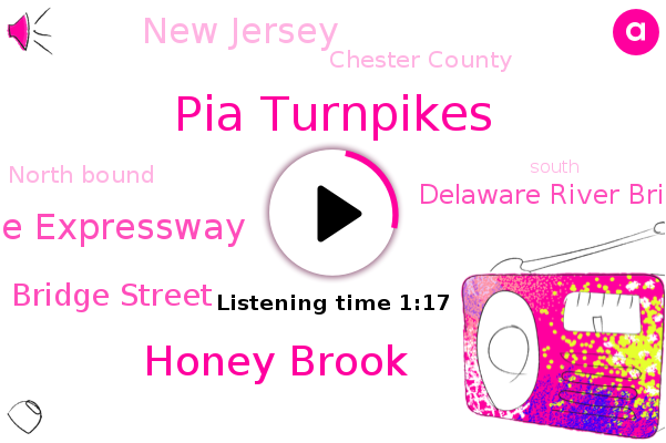 North Bound,Squiggle Expressway,Pia Turnpikes,Bridge Street,New Jersey,Delaware River Bridges,Honey Brook,Chester County