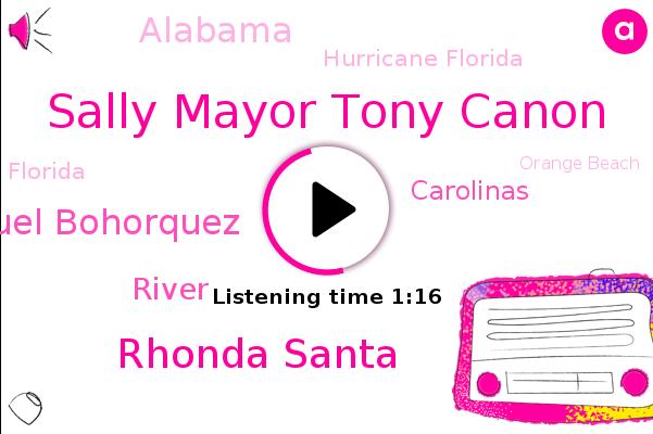 Sally Mayor Tony Canon,Alabama,Hurricane Florida,Florida,Rhonda Santa,Orange Beach,Panhandle,Or Beach,CBS,Manuel Bohorquez,Pensacola,Carolinas,Virginia,Georgia,River