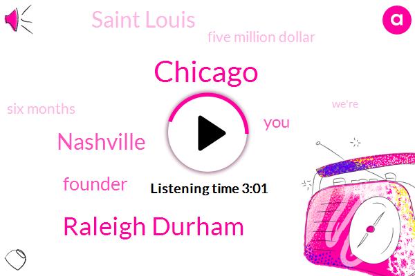 Chicago,Raleigh Durham,Nashville,Founder,Saint Louis,Five Million Dollar,Six Months