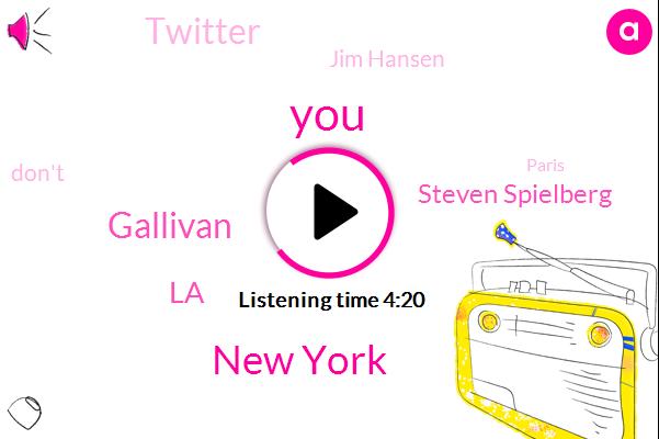 New York,Gallivan,LA,Steven Spielberg,Twitter,ABC,Jim Hansen,Paris,DC,Atlanta,Eleven Days,Ten Days