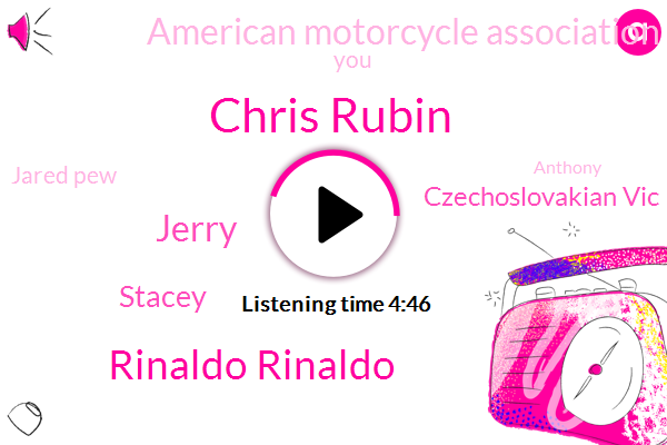 Chris Rubin,Rinaldo Rinaldo,Jerry,Stacey,Czechoslovakian Vic,American Motorcycle Association,Jared Pew,Anthony,Shauna,Keller,Grimes,Instructor,Sean,Frank S,Susan,A. Whole,Five Minutes