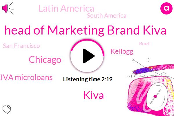Head Of Marketing Brand Kiva,Kiva,Chicago,Akiva Microloans,Kellogg,Latin America,South America,San Francisco,Brazil,United States