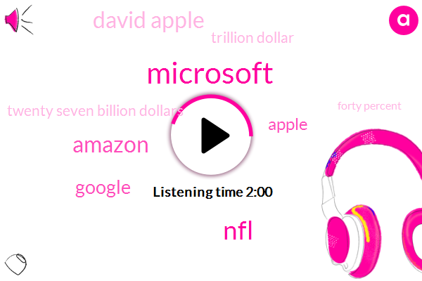 Microsoft,NFL,Amazon,Google,Apple,David Apple,Trillion Dollar,Twenty Seven Billion Dollars,Forty Percent