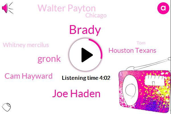 Brady,Joe Haden,Gronk,Cam Hayward,Houston Texans,Walter Payton,Chicago,Whitney Mercilus,TOM,JAY,Dave,Three Yards,Two Years