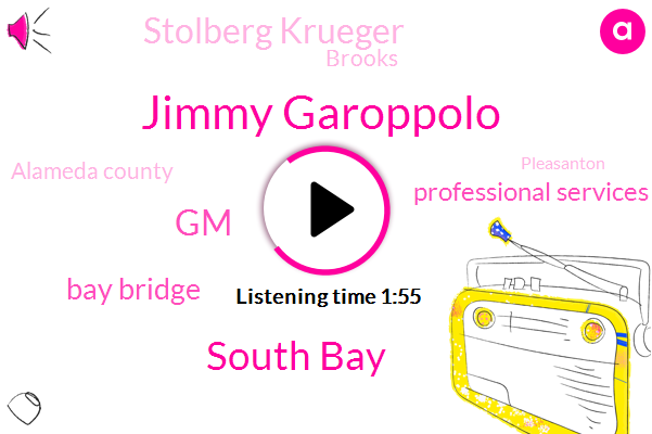 Jimmy Garoppolo,South Bay,GM,Bay Bridge,Professional Services,Stolberg Krueger,Brooks,Alameda County,Pleasanton,Livermore,Hostetter,San Francisco,Robert,Knbr,Twenty Fifth