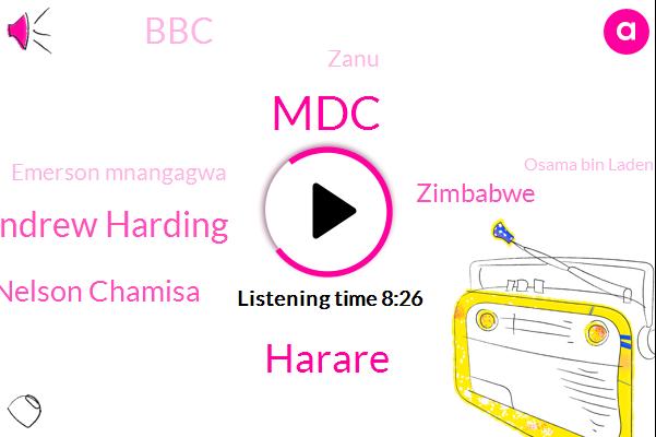 MDC,Andrew Harding,Nelson Chamisa,Harare,Zimbabwe,BBC,Zanu,Emerson Mnangagwa,Osama Bin Laden,KES,New Zealand,Newshour,Rebecca,London,Timmy,A. Tense,Ebba,Reporter,Iran