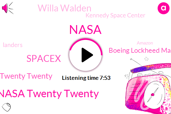 Nasa,Nasa Twenty Twenty,Spacex,Twenty Twenty,Boeing Lockheed Martin Northrop Northrop Grumman,Willa Walden,Kennedy Space Center,Landers,Amazon,Sierra Nevada Corporation,Youtube,Florida,Jim Bryanston,Jim Breitenstein,President Trump,Ali Sina,Boeing